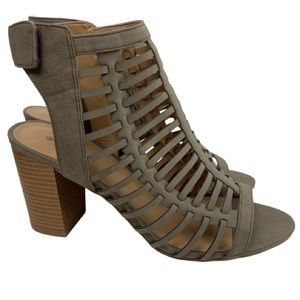 Call It Spring Miriradia Caged Sandals in Taupe